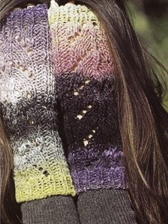 Noro Kureyon Fingerless Mittens Kit - Hats and Gloves