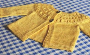 Madelinetosh Tosh Vintage Tiny Tea Leaves Cardigan Kit - Baby and Kids Cardigans