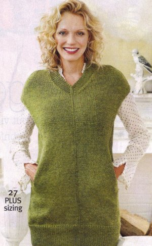 Cascade 220 Heathers Long Vest Kit - Women's Pullovers