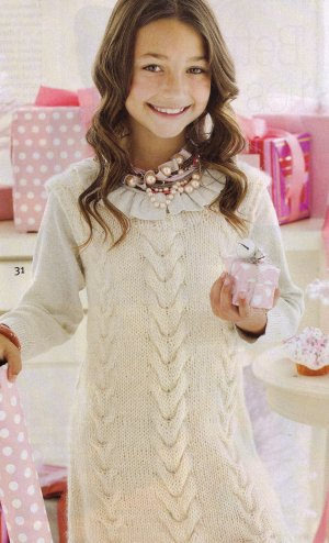 Stitch Nation Full O' Sheep Cabled Dress Kit - Baby and Kids Pullovers