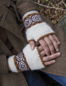 Classic Elite Fresco Duet Fingerless Mittens Kit - Hats and Gloves