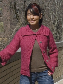 Classic Elite Magnolia Cherry Cardigan Kit - Women's Cardigans