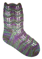 Lorna's Laces Lorna's Patterns - zPurple Iris Socks Pattern
