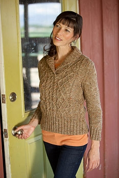 Tahki Stacy Charles Donegal Tweed Olivier Pullover Kit - Women's Cardigans