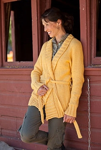 Blue Sky Alpacas Worsted Cotton Chanticleer Cardigan  Kit - Women's Cardigans