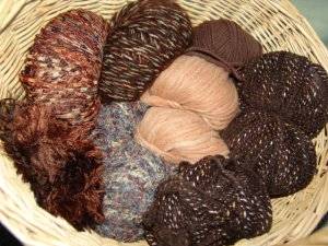 Muench Luxury Yarn Grab Bag - Tan/Brown/Natural - Large