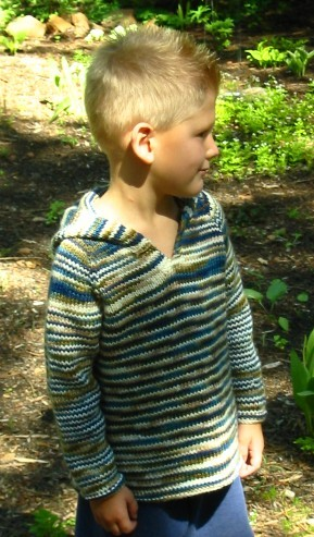 Knitting Pure and Simple #232 Children's Tunic Kit - Baby and Kids Pullovers