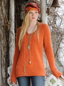 Blue Sky Alpacas Adult Clothing Patterns - Brushed Suri Tunic Pattern