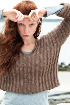Cascade Baby Alpaca Chunky Welted Pullover Kit - Women's Pullovers