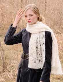 Blue Sky Fibers Scarf, Shawl, and Wrap Patterns - Brushed Suri Wrap Pattern