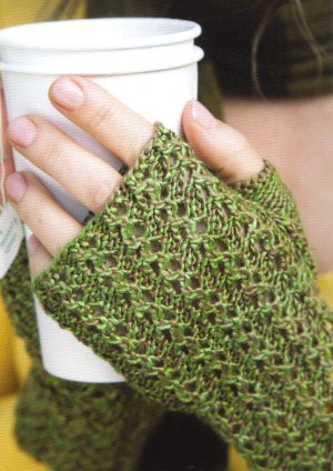 Artyarns Regal Silk Green Tea Lace Wristlets Kit - Hats and Gloves
