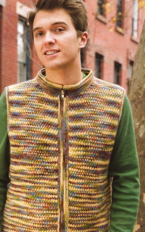 Lorna's Laces Shepherd Worsted Desert Camouflage Vest Kit - Mens Sweaters