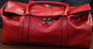 Trendsetter Leather Bag - Red