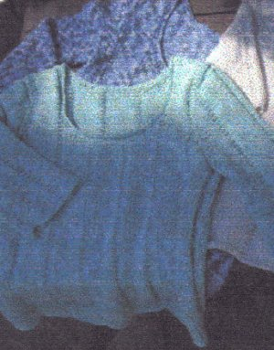 2 Knit Wits Patterns - Scoop Neck Sweater Pattern