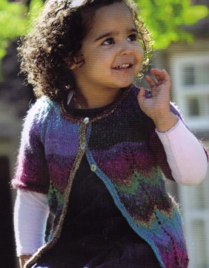 Noro Silk Garden Little Aphrodite Cardigan Kit - Baby and Kids Cardigans