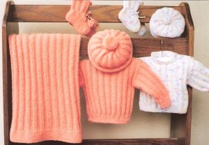Ann Norling Patterns - 36 - Infant Set I Pattern