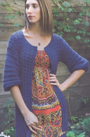 Blue Sky Fibers Alpaca Silk Blueberry Cardigan Kit - Women's Cardigans