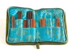 Lantern Moon Double Point Compact Zip Cases - Turquoise, Olive