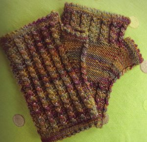 Koigu KPPPM Beaded Fingerless Mitts Kit - Hats and Gloves