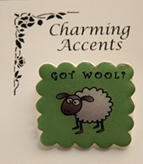 Cedar Creek Charming Accents Got Wool Pin