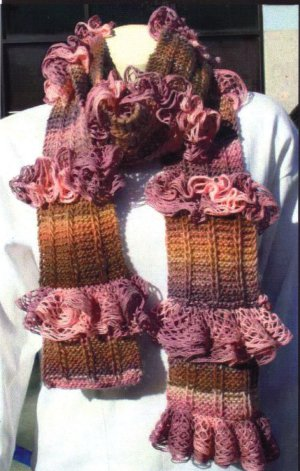 Trendsetter Flamenco & Tonalita Ruffled Flounce Scarf Kit - Scarf and Shawls