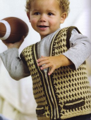 Spud and Chloe Sweater Charlie Vest Kit - Crochet for Kids