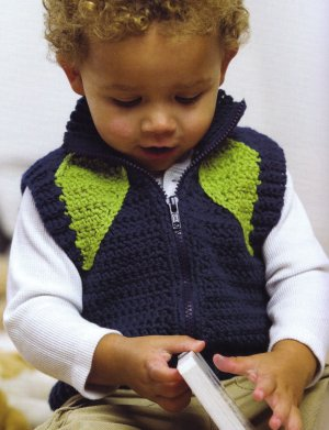 Spud and Chloe Sweater Hank Vest Kit - Crochet for Kids