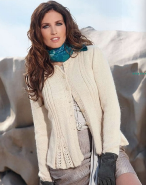 Berroco Ultra Alpaca Light Glacier Cardigan Kit - Women's Cardigans