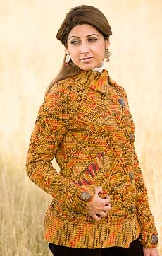 Lorna's Laces Shepherd Worsted Aspenglow Jacket Kit - Crochet for Adults