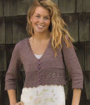 Blue Sky Fibers Skinny Cotton Charleston Cardigan Kit - Women's Cardigans
