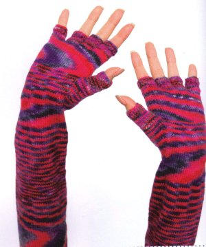 Schoppel Wolle Flying Saucer Fingerless Gloves Kit - Hats and Gloves