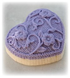 Alsatian Soaps & Bath Products Knitted Heart Soap