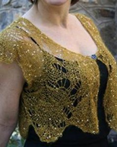 Artyarns Patterns - I120 Sequined Mohair Lace Vest Pattern