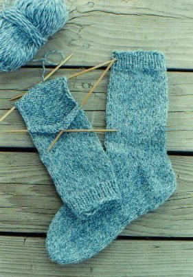 Knitting Pure and Simple Sock Patterns - 9728 - Beginner Socks for Women Pattern