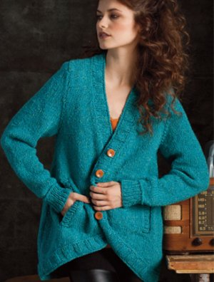 Plymouth Taria Tweed A-Line Cardigan Kit - Women's Cardigans