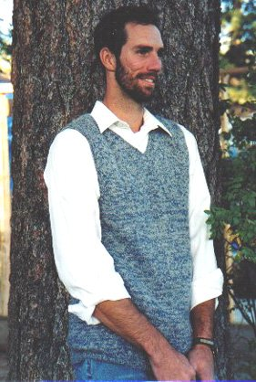 Knitting Pure and Simple Men's Sweater Patterns - 215 - Basic Vest for Men Pattern