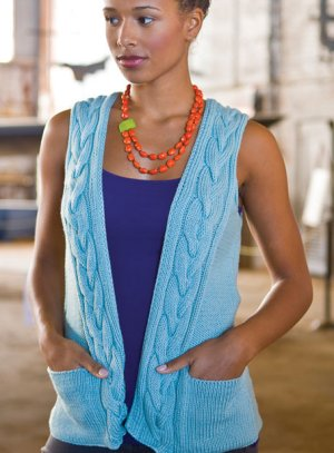 Berroco Weekend Petange Vest Kit - Women's Sleeveless