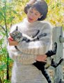 Knitting Pure and Simple Women's Sweater Patterns - 0992 - Bulky Neckdown Pullover for Women