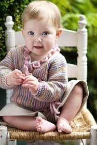 Churchmouse Wee Ones Patterns - Baby Wrap Sweater Pattern