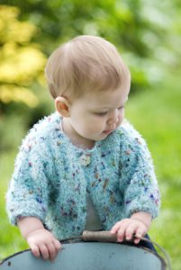 Churchmouse Wee Ones Patterns - 'Blossom' Baby Sweater Pattern