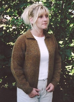 Knitting Pure and Simple Women's Cardigan Patterns - 0201 - Neckdown Jacket Pattern