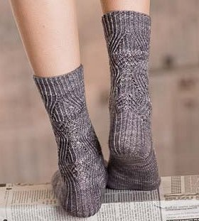 Madelinetosh Tosh Sock Bas-Relief Socks Kit - Socks