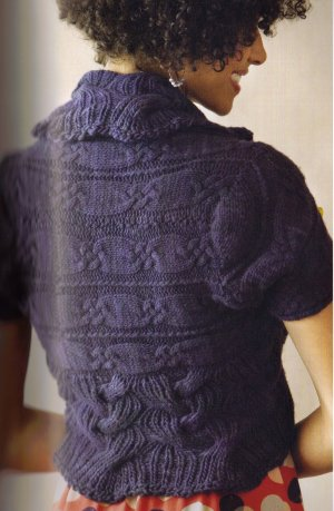 Malabrigo Worsted Merino Ring of Cables Shrug Kit - Women's Cardigans