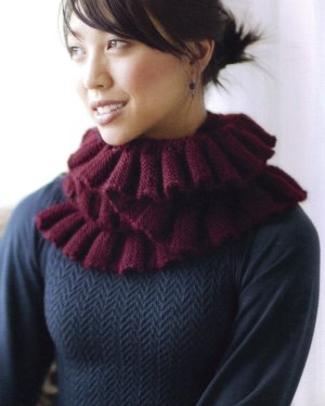 Blue Sky Alpacas Suri Merino Ruched and Ruffled Scarf Kit - Scarf and Shawls