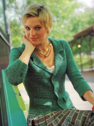 Cascade 220 Quatro Crochet Spring Jacket Kit - Crochet for Adults