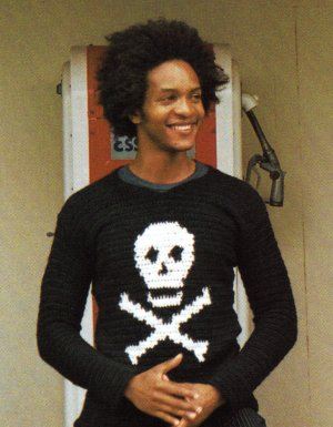 Brown Sheep Lamb's Pride Worsted Jolly Roger Crochet Pullover Kit - Crochet for Adults