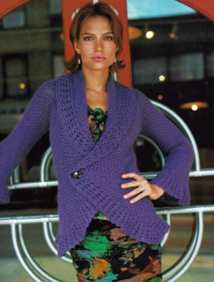 Rowan Kid Classic Froufrou Crochet Cardigan Kit - Crochet for Adults