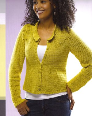 Lorna's Laces Helen's Lace Firefly Cardigan Kit - Crochet for Adults