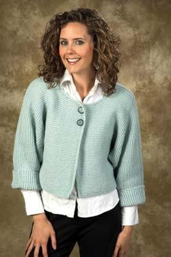 Plymouth Galway Worsted Ladies Jacket Kit - Women's Cardigans
