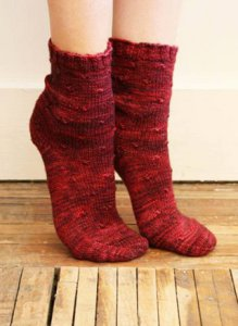 Madelinetosh Tosh Patterns - Dimpled Socks Pattern